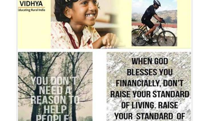 Cycling to raise funds for Isha Education