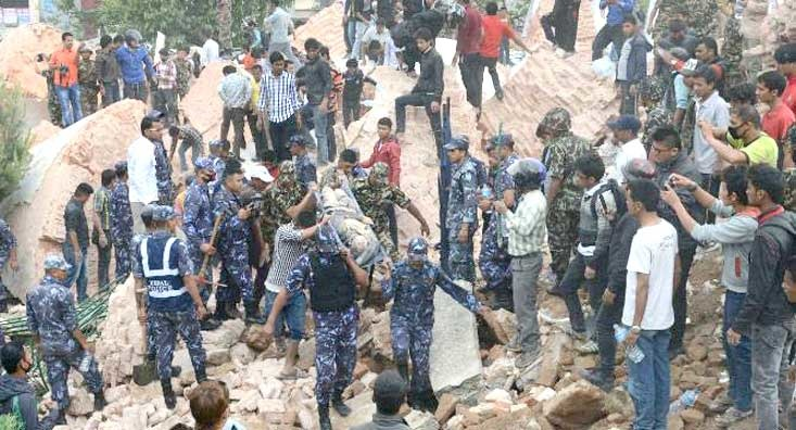 Support the quake-hit Nepal