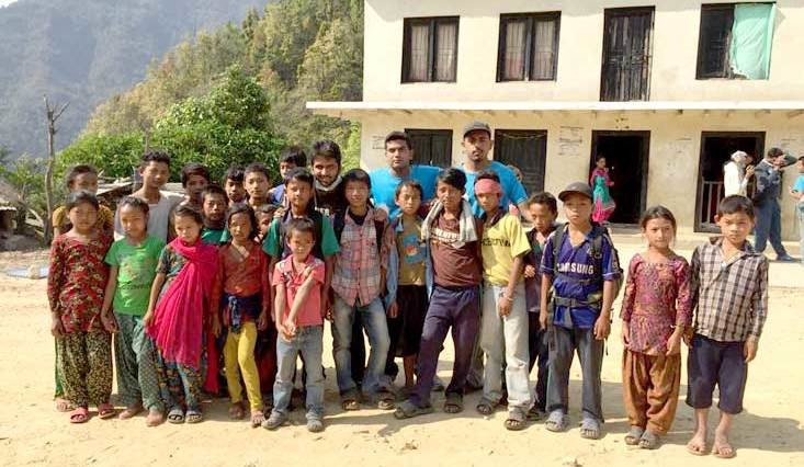 Providing help to Nepal earthquake victims with Sneh Foundation
