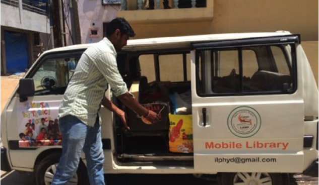 Mobile Library to help educate the underprivileged