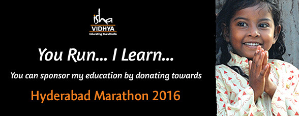 I am pledging my support to run for Isha Vidhya