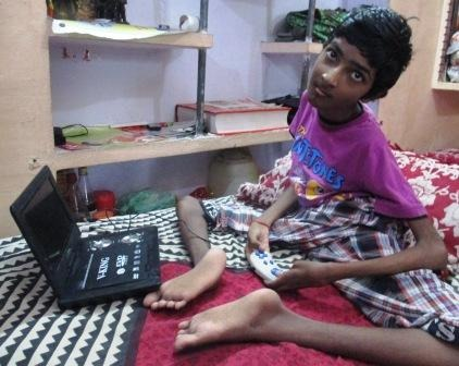 Enable Nikhil to overcome his disability