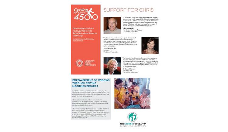 Chris' Cycling for Widows 2020