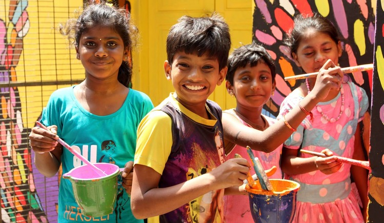 Tribute to Tamil cinema by Nalandaway children