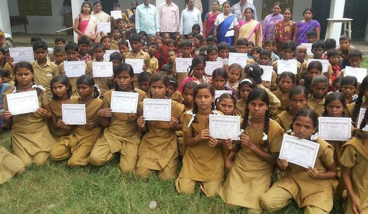 Support  to Poor  Children  with Solar light