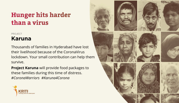 Donate to provide food support in Hyderabad during COVID-19 crisis