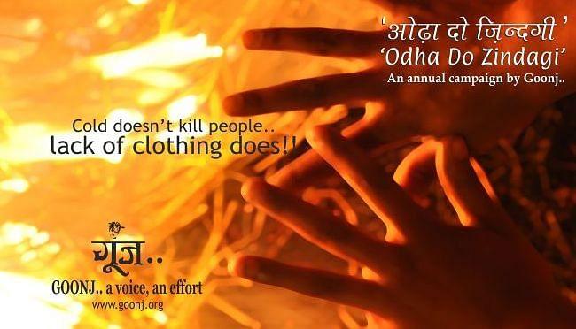 Goonj's annual winter campaign- Odha Do Zindagi