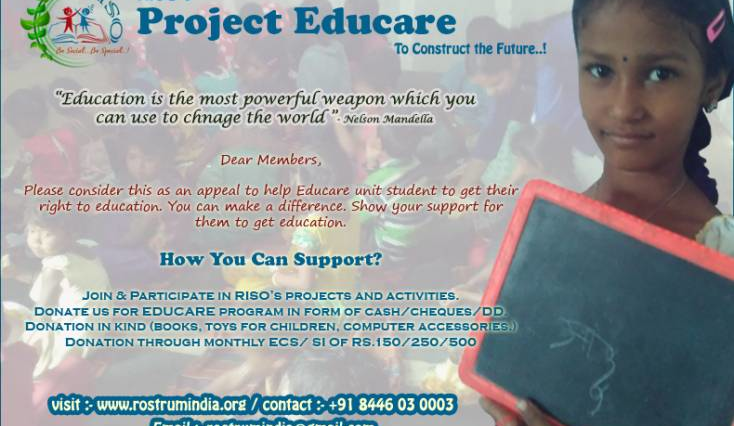 Project Educare...To Educate migrant Childrens