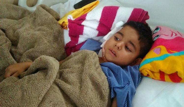 Helping hand for baby khagesh