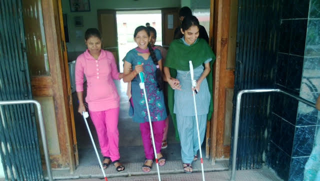 Granting smile to visually impaired